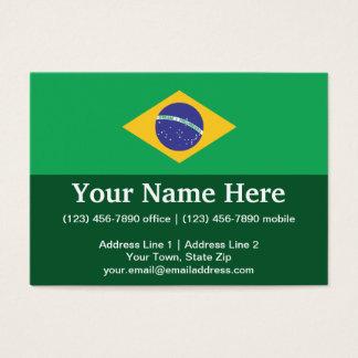 Brazil Plain Flag Business Card
