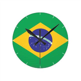 Brazil Plain Flag Clocks