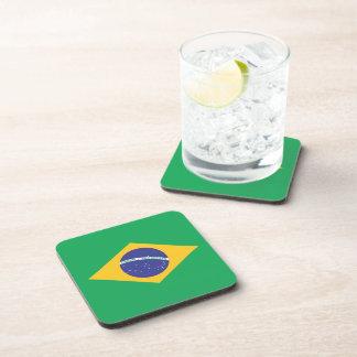 Brazil Plain Flag Drink Coasters