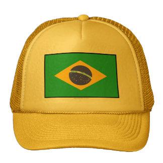 Brazil Plain Flag Mesh Hats