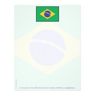 Brazil Plain Flag Letterhead
