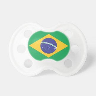 Brazil Plain Flag Baby Pacifier