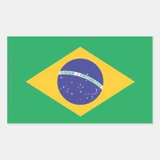 Brazil Plain Flag Rectangular Sticker