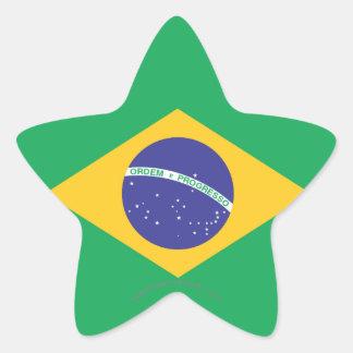 Brazil Plain Flag Star Sticker
