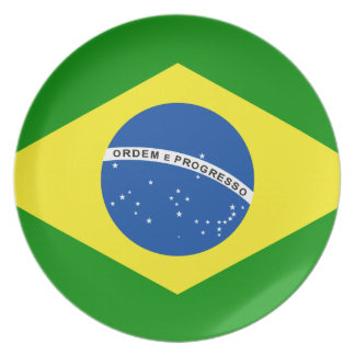 Brazil Party Plate