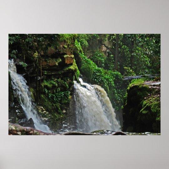 Brazil Rainforest Waterfall Poster