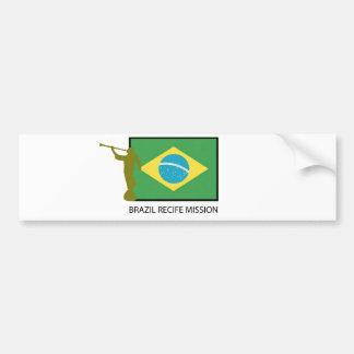 BRAZIL RECIFE MISSION LDS BUMPER STICKER