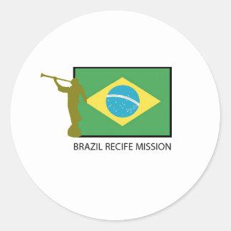 BRAZIL RECIFE MISSION LDS CLASSIC ROUND STICKER