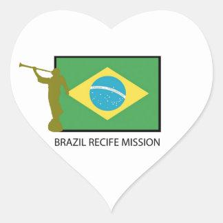 BRAZIL RECIFE MISSION LDS HEART STICKER