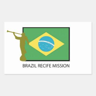 BRAZIL RECIFE MISSION LDS RECTANGULAR STICKER