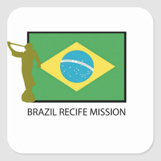 BRAZIL RECIFE MISSION LDS SQUARE STICKER