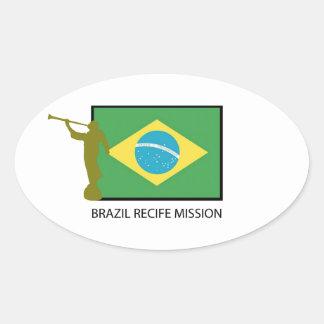 BRAZIL RECIFE MISSION LDS OVAL STICKER