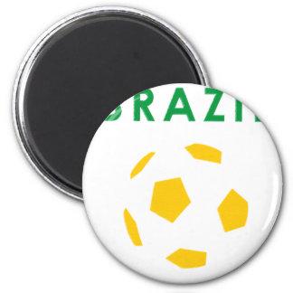 brazil retro soccer t- shirt magnet