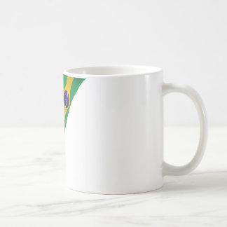 brazil ribbon flag coffee mug
