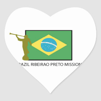 Brazil Ribeirao Preto Mission LDS Heart Sticker