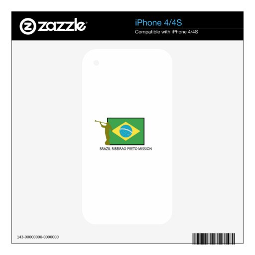 Brazil Ribeirao Preto Mission LDS Skin For The iPhone 4