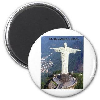 Brazil Rio De Janeiro christ (St.K.) 2 Inch Round Magnet