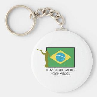 BRAZIL RIO DE JANEIRO NORTH MISSION LDS KEYCHAIN