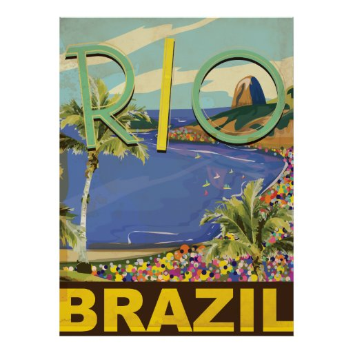 Brazil - Rio De Janeiro Poster