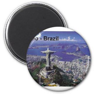 Brazil Rio De Janeiro (St.K.) 2 Inch Round Magnet