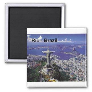 Brazil Rio De Janeiro (St.K.) 2 Inch Square Magnet