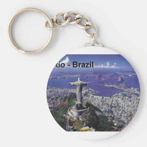 Brazil Rio De Janeiro (St.K.) Basic Round Button Keychain