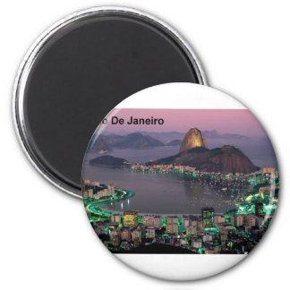 Brazil Rio De Janeiro Sugar Loaf Mountain (St.K.) 2 Inch Round Magnet