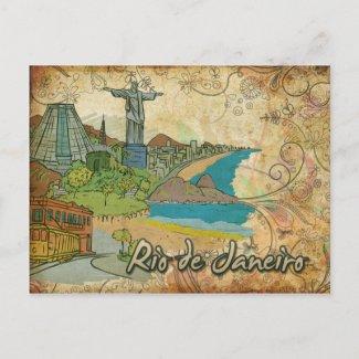 Brazil Rio De Janeiro Travel Postcard postcard