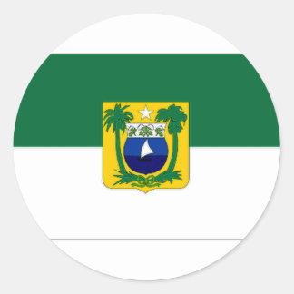 Brazil Rio Grande do Norte Flag Classic Round Sticker