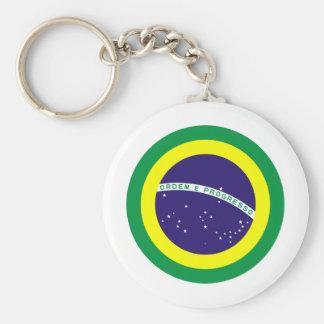 Brazil Round Flag Keychain