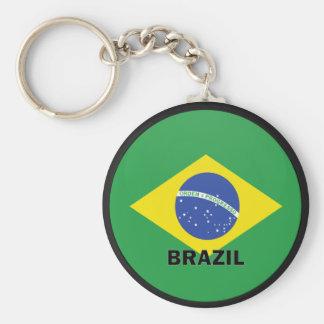 Brazil Roundel quality Flag Basic Round Button Keychain