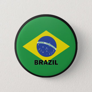 Brazil Roundel quality Flag Pinback Button