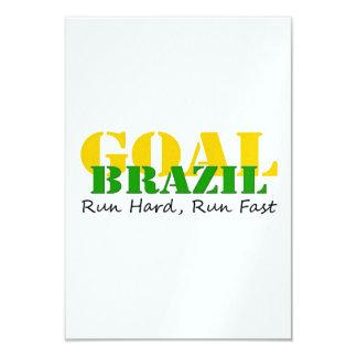 Brazil - Run Hard Run Fast Card