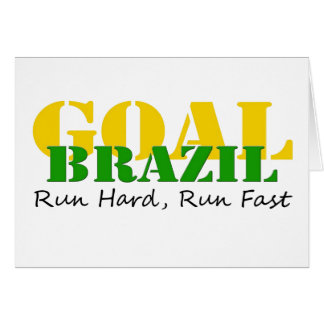 Brazil - Run Hard Run Fast Card