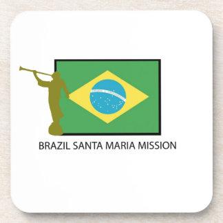 BRAZIL SANTA MARIA MISSION LDS BEVERAGE COASTER
