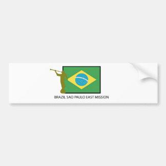 BRAZIL SAO PAULO EAST MISSION LDS CAR BUMPER STICKER