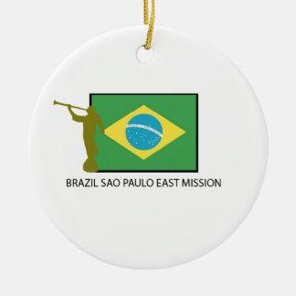 BRAZIL SAO PAULO EAST MISSION LDS CERAMIC ORNAMENT