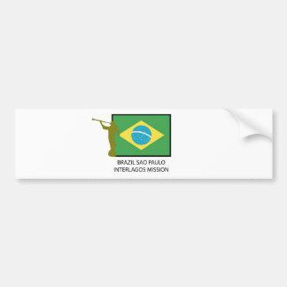 BRAZIL SAO PAULO INTERLAGOS MISSION LDS CAR BUMPER STICKER
