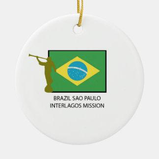 BRAZIL SAO PAULO INTERLAGOS MISSION LDS CERAMIC ORNAMENT