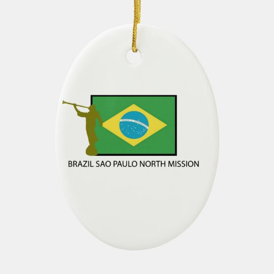 BRAZIL SAO PAULO NORTH MISSION LDS CERAMIC ORNAMENT