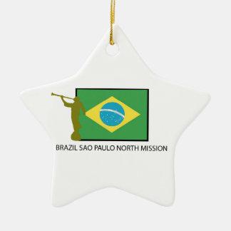 BRAZIL SAO PAULO NORTH MISSION LDS CERAMIC ORNAMENT