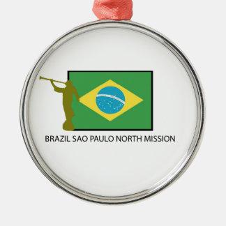 BRAZIL SAO PAULO NORTH MISSION LDS METAL ORNAMENT