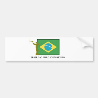 BRAZIL SAO PAULO SOUTH MISSION LDS CAR BUMPER STICKER