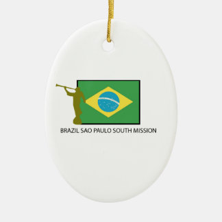 BRAZIL SAO PAULO SOUTH MISSION LDS CERAMIC ORNAMENT