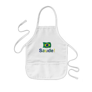 Brazil Saude! Kids' Apron