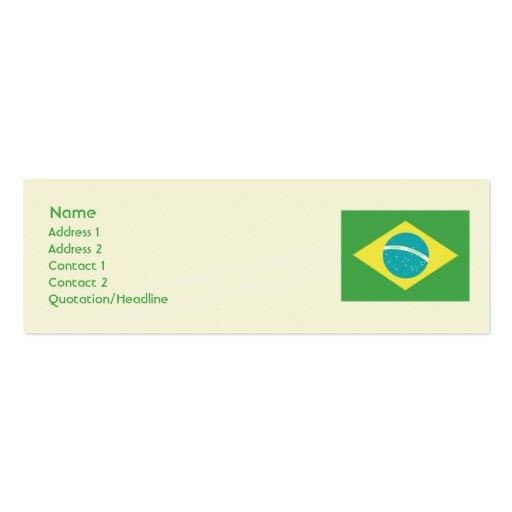 Brazil - Skinny Business Cards