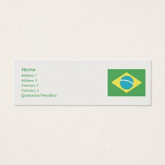 Brazil - Skinny Mini Business Card