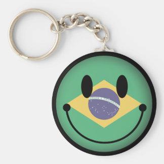 Brazil Smiley Keychain