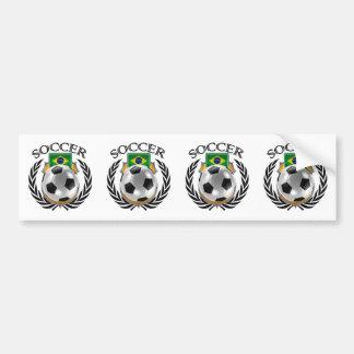 Brazil Soccer 2016 Fan Gear Bumper Sticker
