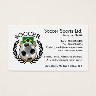 Brazil Soccer 2016 Fan Gear Business Card